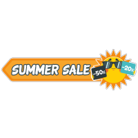 Summer sale kortingen sticker