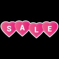 Sale harten sticker full color bestellen | valentijn sticker kopen