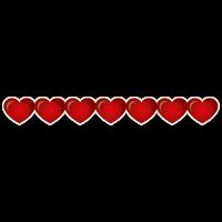Strook met hartjes sticker bestellen | valentijn sticker kopen