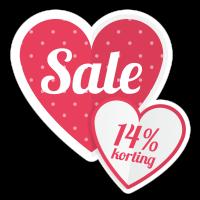 Hart sale korting sticker bestellen | valentijn sticker kopen