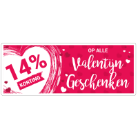 Valentijn geschenken korting sticker bestellen | valentijn sticker kopen