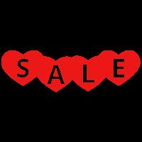 SALE harten sticker bestellen | valentijn sticker kopen