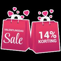 Valentijnsdag sale sticker bestellen | valentijn sticker kopen