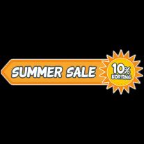Summer sale korting sticker
