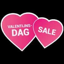 Valentijnsdag sale harten sticker