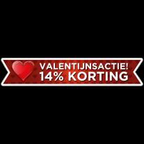 Valentijnsactie banner sticker
