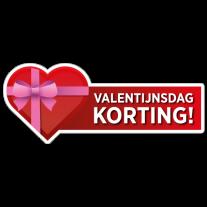 Valentijnsdag korting sticker