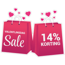 Valentijnsdag sale sticker