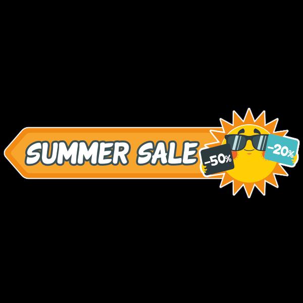 Summer sale kortingen sticker