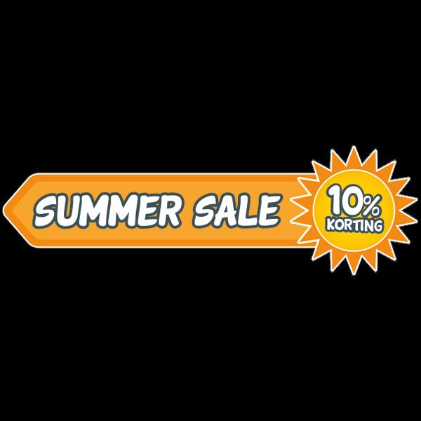 Summer sale korting stickers bij Reclame ABC