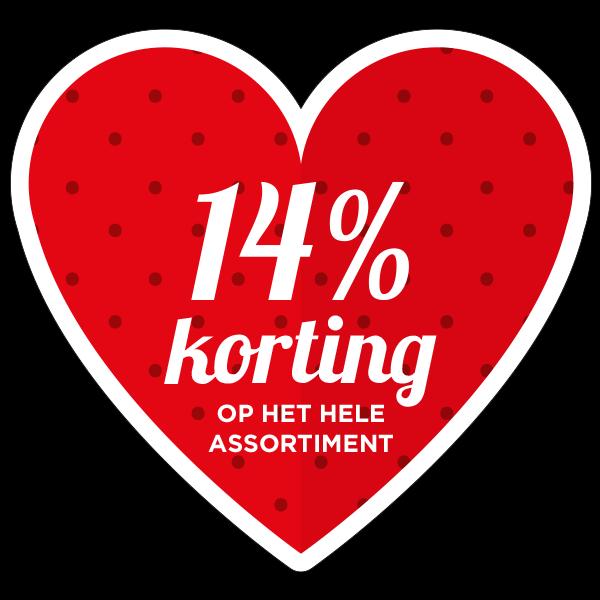 Hart korting op het hele assortiment sticker bestellen | valentijn sticker kopen
