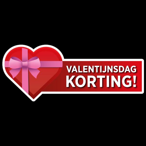 Valentijnsdag korting sticker bestellen | valentijn sticker kopen