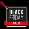 Black friday sale vierkant stickers van Reclame ABC
