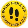 Corona vloersticker voetstappen rond bestellen - Ontwerp 2 | Cororna sticker kopen | Reclame ABC