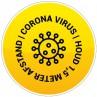 Corona vloersticker rond bestellen - Ontwerp 7 | Cororna sticker kopen | Reclame ABC