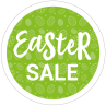 Easter sale cirkel sticker