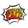 Super sale stickers van Reclame ABC