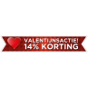 Valentijnsactie banner sticker bestellen | Valentijn sticker kopen