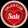 Valentijn sale sticker bestellen | valentijn sticker kopen