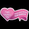 Hoge kortingen hart sticker bestellen | valentijn sticker kopen
