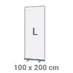 Roll-up banner 100 x 200 cm - +€52,50