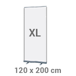 Roll-up banner 120 x 200 cm - +€57,50